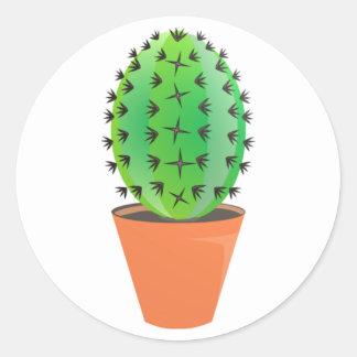 Kaktus Runder Aufkleber