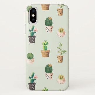 Kaktus-Sammlungs-Kaktus-Telefon-Kasten iPhone X Hülle