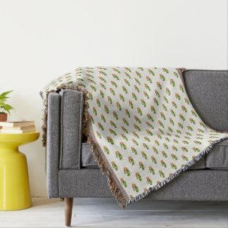 Kaktus u. saftiges Polk-Punkt-Muster Decke