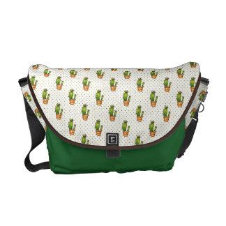 Kaktus u. saftiges Polk-Punkt-Muster Kurier Taschen