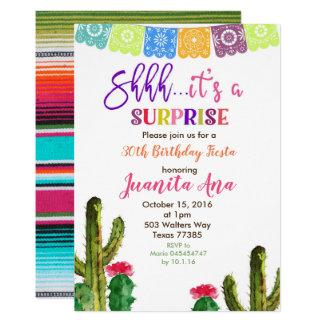 Kaktus-Überraschungs-Geburtstags-Party Einladung