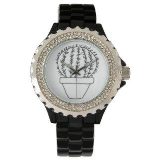 Kaktus-Uhr Armbanduhr