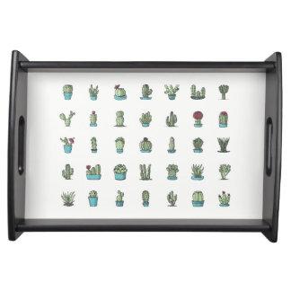 Kaktus-und Succulents-Illustrations-Serviertablett Serviertablett