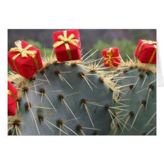 Kaktus-Weihnachtsgrußkarte Karte