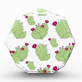 Kaktusfeige-Muster Acryl Auszeichnung