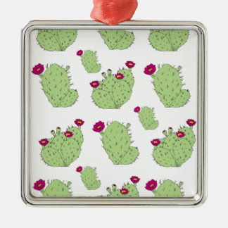 Kaktusfeige-Muster Silbernes Ornament