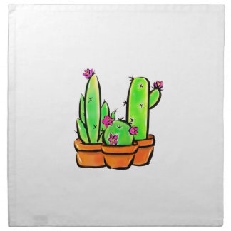 Kaktusfreude - warme Farbe Serviette
