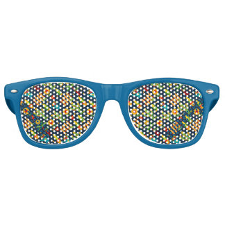 Kaktussonnenblume auf blauem Festa Junina Muster Partybrille