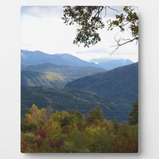 Kalabrien-Panorama Fotoplatte