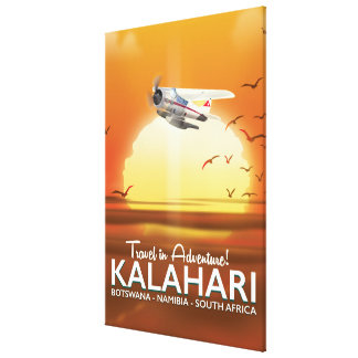 Kalahari-Wüsten-Abenteuerreiseplakat Leinwanddruck