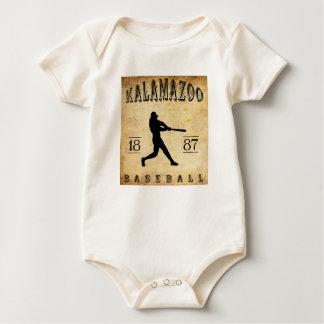 Kalamazoo Michigan Baseball 1887 Baby Strampler