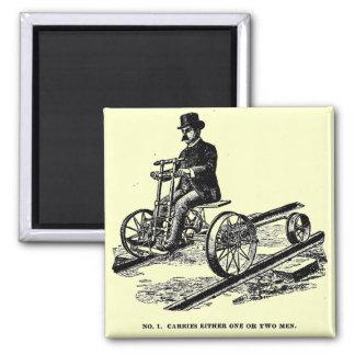 KALAMAZOO Velocipede-Eisenbahn-Handauto 1887 Quadratischer Magnet