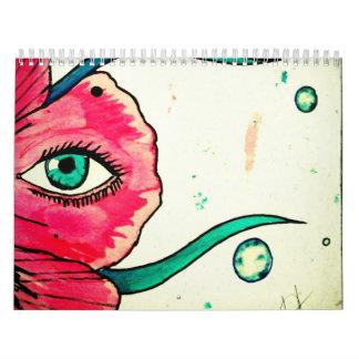 Kalander - Malerei-Collage Wandkalender