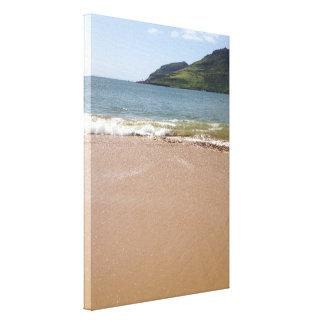 Kalapaki Bucht-Strand auf Kauai in Hawaii Leinwanddruck