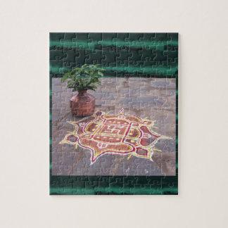 Kalas Vasen-Hakenkreuz rangoli indische Hochzeit Puzzle