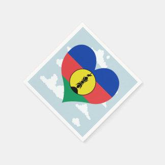 Kaledonische Flagge auf einem bewölkten