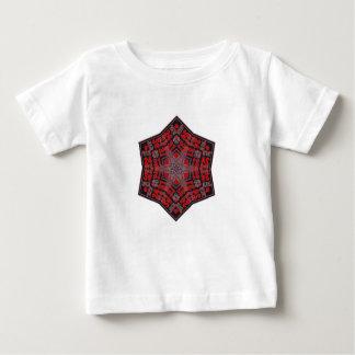 kaleido Stammes- Entwurfsschwarzes und -ROT Baby T-shirt