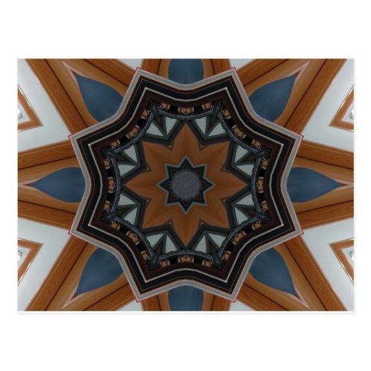 Kaleidoscope Brown Star pattern... Postkarte