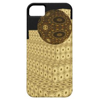 Kaleidoskop 3D tritt und Kugeln, Blumen Brown Hülle Fürs iPhone 5