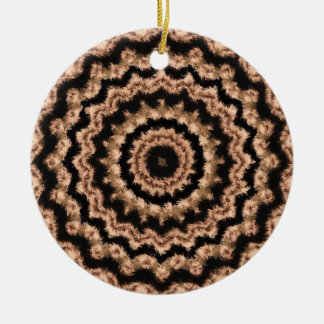 Kaleidoskop-beige Kreismuster-Verzierung Keramik Ornament