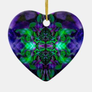 Kaleidoskop-Blumenmuster Keramik Herz-Ornament