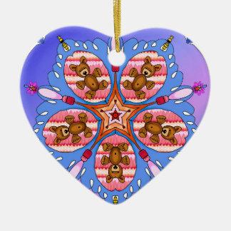 Kaleidoskop der Bären und der Bienen Keramik Ornament