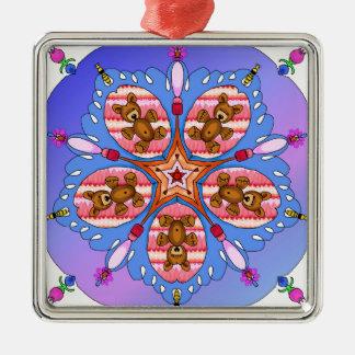 Kaleidoskop der Bären und der Bienen Silbernes Ornament