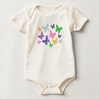 Kaleidoskop der Schmetterlinge - Bio Bodysuit Baby Strampler
