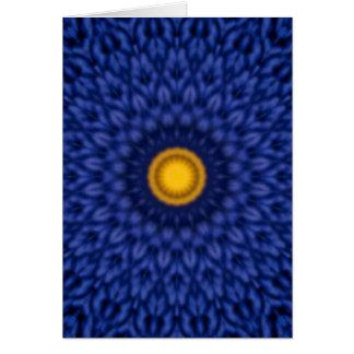 Kaleidoskop Ente auf Blau Mitteilungskarte
