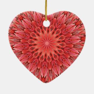 Kaleidoskop-Entwurfs-Blumenrot Keramik Ornament