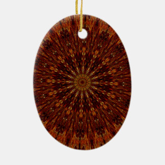 Kaleidoskop-Entwurfs-dunkles Brownblumenmuster Keramik Ornament