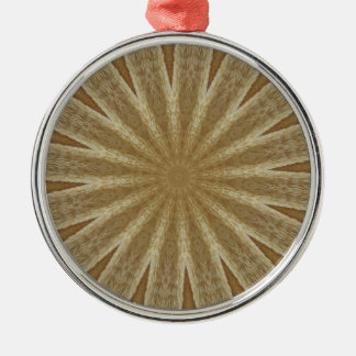 Kaleidoskop-Entwurfs-hellbraunes rustikales Blumen Silbernes Ornament