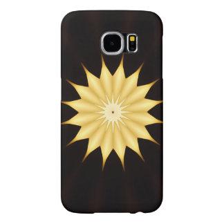 Kaleidoskop-Entwurfs-heller gelber Stern