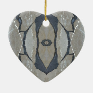 Kaleidoskop-Entwurfs-Licht und dunkelgraues Muster Keramik Ornament