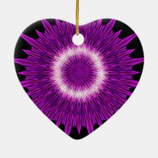 Kaleidoskop-Entwurfs-lila rosa Kunst Keramik Ornament