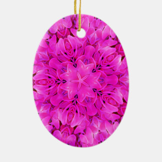 Kaleidoskop-Entwurfs-Pink-Blumenkunst Keramik Ornament