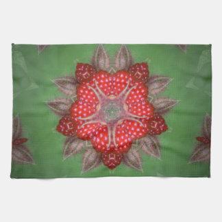 Kaleidoskop-Erdbeere Handtuch