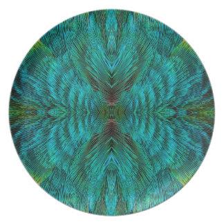 Kaleidoskop-Feder-Entwurf Melaminteller