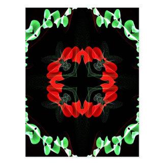 Kaleidoskop-Fraktal 143 Postkarte