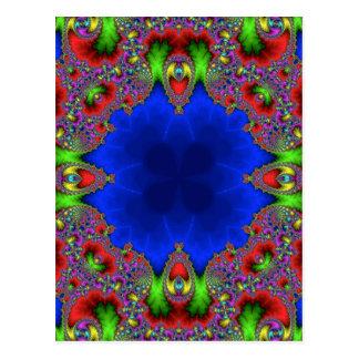 Kaleidoskop-Fraktal 483 Postkarten