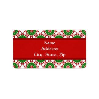 Kaleidoskop für Weihnachten Adressetiketten
