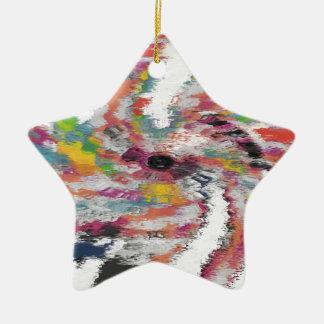 Kaleidoskop Keramik Stern-Ornament