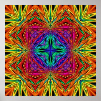 Kaleidoskop Kreations blinkendes Plakat Fraktal-No