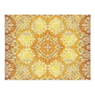Kaleidoskop Kreations Zitronen-Tapisserie 4 Postkarte