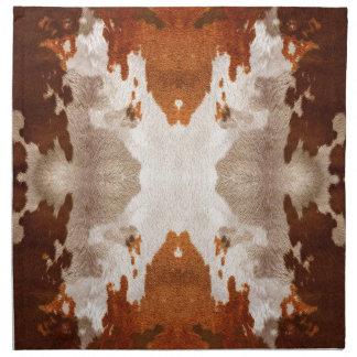 Kaleidoskop-Kuh-Fell-Muster Serviette