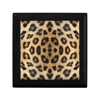 Kaleidoskop-Leopard-Pelz-Muster Erinnerungskiste