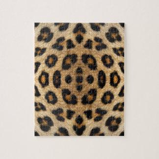 Kaleidoskop-Leopard-Pelz-Muster Puzzle