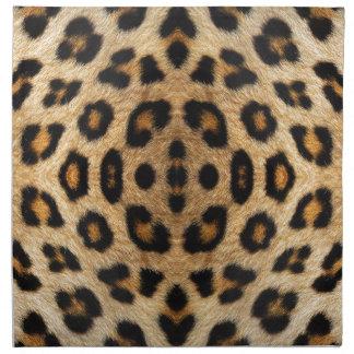 Kaleidoskop-Leopard-Pelz-Muster Stoffserviette