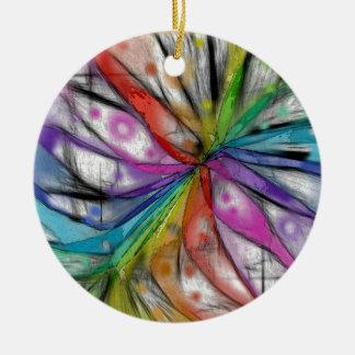 Kaleidoskop-Libelle Keramik Ornament