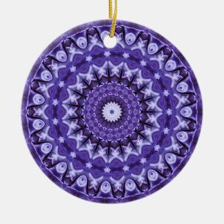 Kaleidoskop-lila Silk Keramik-Verzierung Rundes Keramik Ornament